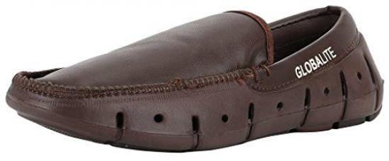 Buy Globalite Men's Loafers GROOVE Brown GEC0054 from Amazon