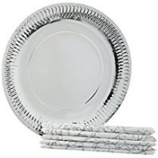 Origami Printed Plates 28 cm - 10 Pieces with Napkins 32 cm - 10 Pieces (Pack of 4) for Rs. 255