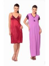Get 70% off on Klamotten Satin Short Nighty, multicolor