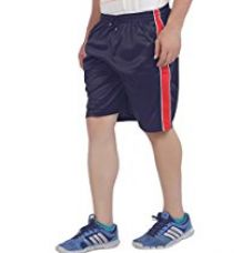 American Crew Men's Polyester Navy Blue Shorts - L (AS007-L) for Rs. 399