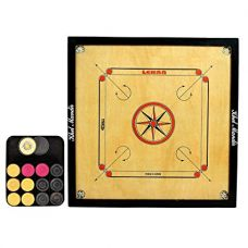 Buy GSI Khel mandir Large Size 4mm Gloss finish Carrom board with coins, striker and powder from Amazon