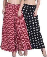 Jollify Regular Fit Women's Maroon And Black Plazzo(pz002maronpz01blk) for Rs. 499