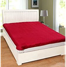 Buy Warmland Polycotton Double Mattress Protector - Red from Amazon