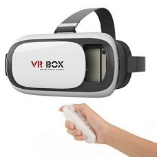 Pro VR Box 2.0 With Bluetooth Controller, 2nd Gen Virtual Augmented Reality Cardboard 3D Video Glasses for Rs. 379