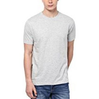 Buy Aventura Outfitters Round Neck Grey Melange T-Shirt - L (AOTE03-L) from Amazon