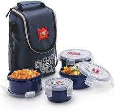 Flat 32% off on Cello Max Fresh Click 4 Containers Lunch Box(500 ml)