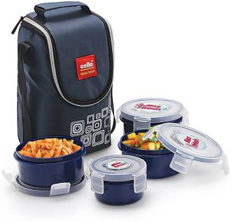 Get 24% off on Cello Max Fresh Click 4 Containers Lunch Box  (500 ml)
