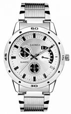 Laurels Matrix Analogue Silver Dial Men's Watch - Lo-Mtx-0707 for Rs. 299