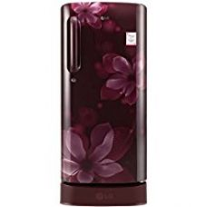 LG 190 L 4 Star Direct-Cool Single Door Refrigerator (GL-D201ASOX.ASOZEBN, Scarlet Orchid,Base Stand with Drawer,Inverter Compressor) for Rs. 17,990