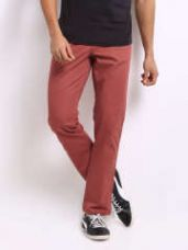 Get 50% off on Jack & Jones Men Coral Pink Frank Pablo Chino Trousers