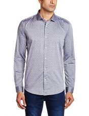 Buy BASICS Men's Formal Shirt (8907054718672_15BSH32384_XL_Grey) from Amazon