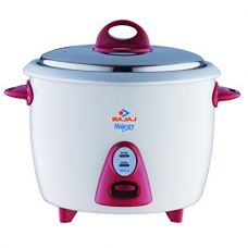 Buy Bajaj Majesty New RCX 3 350-Watt Multifunction Rice Cooker (White/Pink) from Amazon