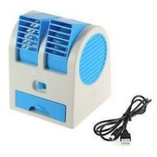 Mini Small Fan Cooling Portable Desktop Dual Bladeless Air Cooler Usb for Rs. 399