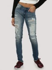 Buy BHANE Distress Slim Jeans from Koovs