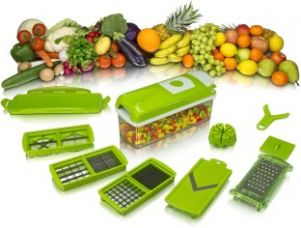 Buy jhondeal.com Multi Vegetable Cutter and Fruit Slicer Chopper  (Green) for Rs. 585