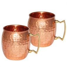 Copperware Moscow Mule Vodka Drinkware Copper Mugs Set of 2 for Rs. 520