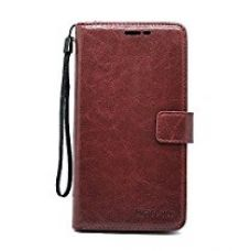 Buy Bracevor Xiaomi Redmi Note 3 Flip Cover Case : Inner TPU, Premium Leather Wallet Stand - Executive Brown from Amazon