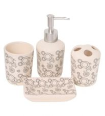 Go Hooked Multicolour Ceramic Bathroom Accessories - Set of 4 for Rs. 729