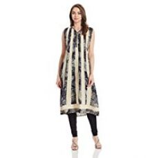 Buy IndusDiva Straight Cut Printed Kurti from Amazon