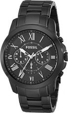Buy Fossil Grant Chronograph Analog Black Dial Men's Watch - FS4832 from Amazon