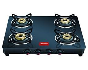 Buy Prestige Marvel Glass Gas Table, 4 Burner Black from Amazon