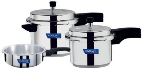 Surya Accent Induction Bottom 2 L, 3 L, 5 L Pressure Cooker  (Induction Bottom, Aluminium) for Rs. 1,499