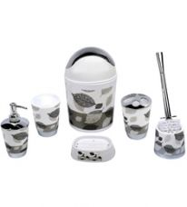 Home Belle Grey ABS Plastic Bathroom Accessories - Set of 6 for Rs. 1,009