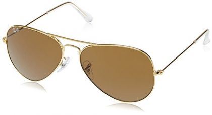 Buy Ray-Ban Aviator Unisex Sunglasses (RB3025|58|Brown color) from Amazon