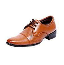 Buy T-Rock Men's Lace up Brown Formal Shoes from Amazon