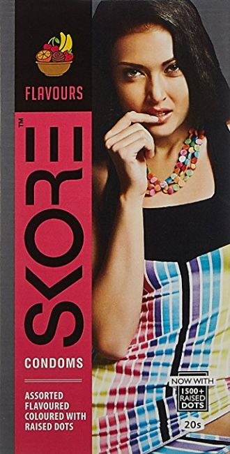 Skore Flavours Condoms - 20's for Rs. 118