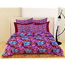 Story@Home Swan Di Ville Ultra Soft Printed Microfibre Double Quilt -  Maroon for Rs. 1,799