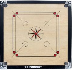 JD Sports 32inch 1.5 inch Carrom Board(Black) for Rs. 1,499