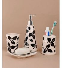 Buy Go Hooked Stainless Steel Bathroom Set - Set of 4 from PepperFry