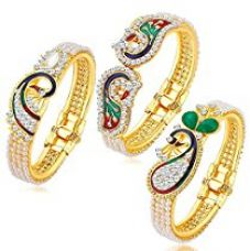 YouBella Gold Plated Bangle Set For Women for Rs. 292
