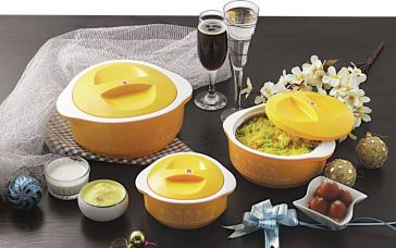 Flat 47% off on Cello Hot Meal Casserole Set  (500 ml, 850 ml, 1500 ml)