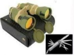 Buy Belgian Camping Knife Set And Russian Binocular for Rs. 445