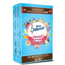 Buy Milkmaid Ice Cream Kit -Contains Milkmaid Tin, Go Cream, Plastic Container & Recipe Booklet from Paytm