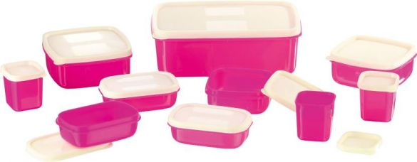 Flat 47% off on MasterCook COMBO-X-3-PINK Plastic Multi-purpose Storage Container  (Pack of 10, Pink)