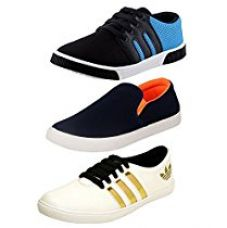 Buy Jabra Men Blue-White Casual Pack of Loafers & Sneaker Combo from Amazon
