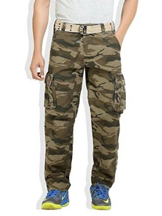 Buy Vbirds Men's Army Cotton Cargo Pant from Amazon
