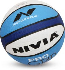 Flat 58% off on Nivia Pro Grip Basketball -   Size: 7  (Pack of 1, White, Blue)