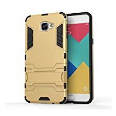 Premsons Samsung Galaxy A7 Iron Man Military Shockproof Case With Kickstand (Gold) for Rs. 399