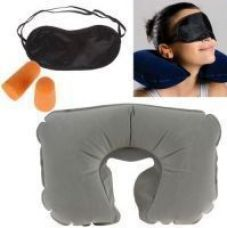 Buy 3 In 1 Travel Set-neck Pillow Eye Mask Ear Plug for Rs. 526