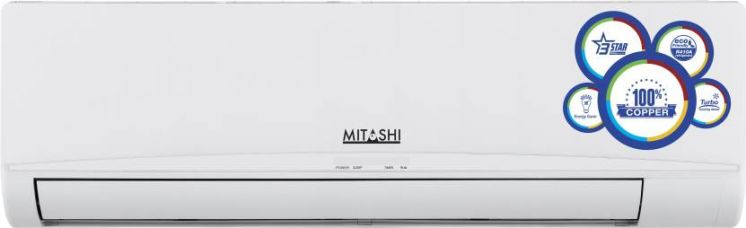Buy Mitashi 1 Ton 3 Star Split AC  - White  (SAC3S12K100, Copper Condenser) for Rs. 19,999