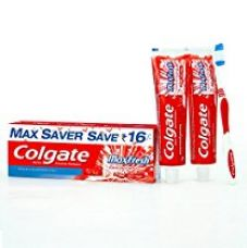 Colgate Toothpaste Maxfresh Spicy Fresh - 300 g (Red Gel - Saver Pack) for Rs. 142
