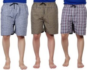 Get 65% off on Hanu Checkered Men's Boxer  (Pack of 3)
