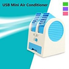 Buy WebelKart USB Fragrance Air Conditioner Cooling Fan Cooling Portable Desktop Dual Bladeless Air Cooler - Assorted Color from Amazon
