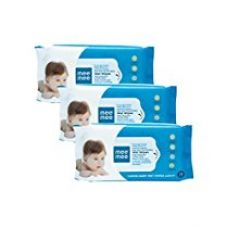 Mee Mee Caring Baby Wet Wipes with Lemon Fragrance - 72  pcs (Pack of 3) for Rs. 260