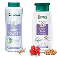 Buy Baby Care Himalaya Baby Powder (400g) with Gental Baby Shampoo (400ml) from Amazon