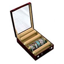 Kuber Industries™ 4 Rods Maroon Transparent Bangle Organizer Box for Rs. 639